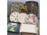 8 x VINTAGE RETRO TRAYS in good condition £10 the lot