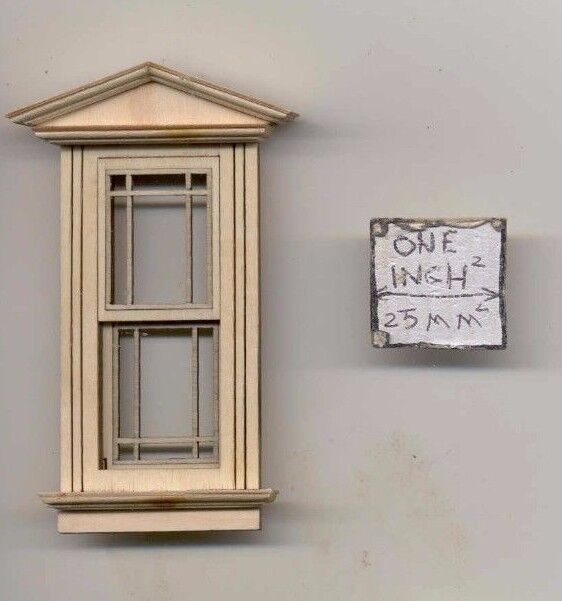 Dollhouse Miniature Victorian Single Window