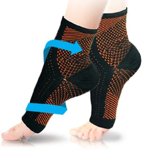 COPPER Compression Foot Sleeves Angel Socks Plantar Ankle Swelling Pain S/M L/XL Health & Beauty