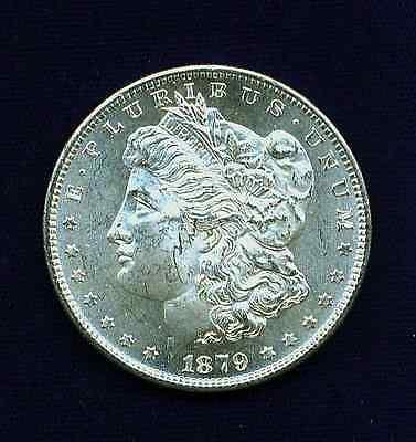 U.S.  1879-S  MORGAN  SILVER DOLLAR COIN, BRILLIANT UNCIRCULATED