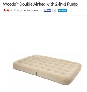 Woods™ Double Airbed with 2-in-1 Pump