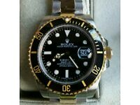Rolex Submariner Gold Silver Bi Colour + Box, Papers