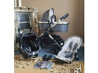 Icandy peach 2016 truffle 2 travel system with carrycot and maxi cosi car seat