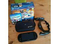 PS Vita Slim PCH-2016, Wifi, 1gb internal, 8gb vita memory card, freedom wars game, case + grip