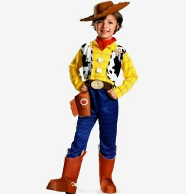 Disney Toy Story deluxe Woody Size 3-4T  Toddler Costume New   (Toddler Woody Costume)