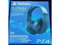 Ps4 platinum 7.1 wireless surround sound headset