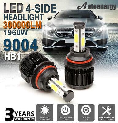 9004 HB1 LED Headlight Pair 300000LM Bulb Conversion Kit Super Bright Waterproof