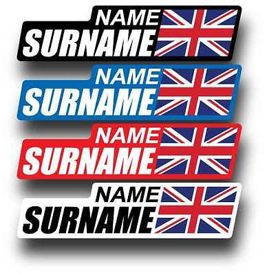 Personalised Bike Name Stickers x 16 Bicycle Frame Decals Cycling 4 Colours