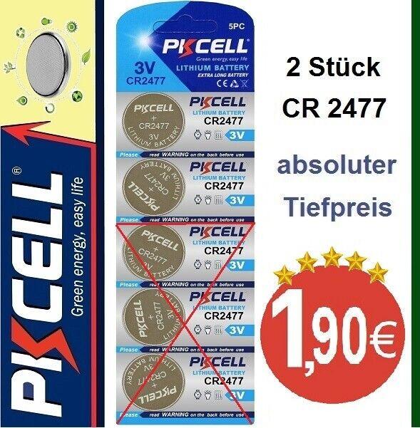 CR2477 Lithium 3VKnopfzellen im Blister 2 Stück