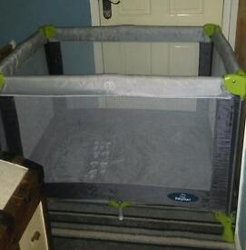 **REDUCED Travel cot with carry case