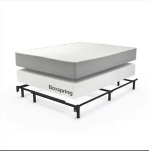 Double size bed. mattress and Boxspring with frame.