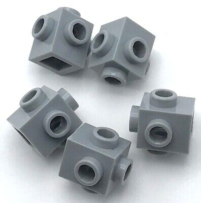 Lego 5 New Light Bluish Gray Bricks Modified 1 x 1 with Studs on 4 Sides Parts