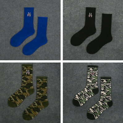 Men Women A Bathing Ape Bape Camo Socks Casual Ankle Long Socks 11 Color Gifts