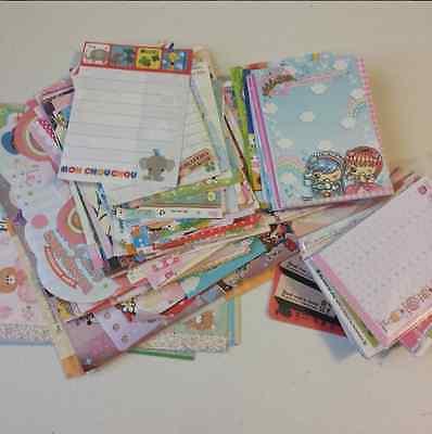 Kawaii Loose Stationery 100 Grabbie Mini Memo Sheets + Free 20 Sticker Flakes