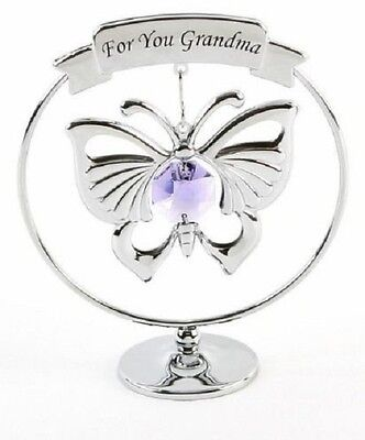 Mothers Day Gift Ideas Presents Gifts for Grandma Butterfly Swarovski Crystal ()