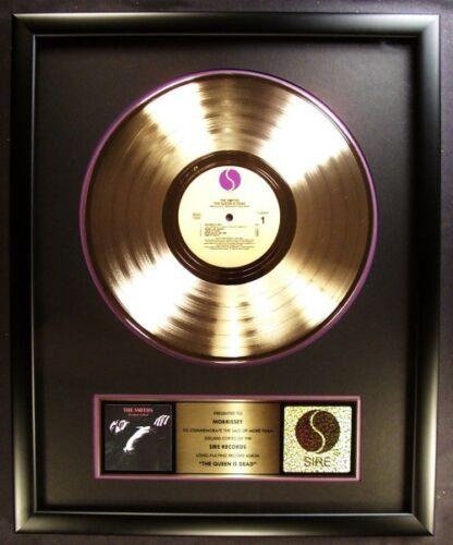 The Smiths Queen Is Dead LP Gold Non RIAA Record Award Sire Records Morrissey