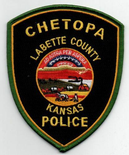KANSAS KS CHETOPA POLICE NICE PATCH SHERIFF