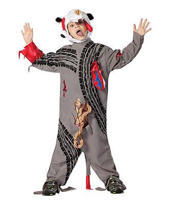 New Road Kill Costume Children Size 7-10 Rasta Imposta, Halloween Grey Jump Suit