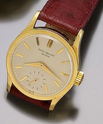 18K Yellow Gold  Patek Philippe Calatrava Wrist Watch  ¾-Size C1956 Luxury Dress
