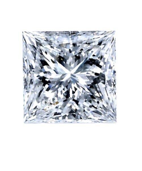 1.33ct. Square Princess Cut, G Color, SI1 Clarity Diamond, Engagement