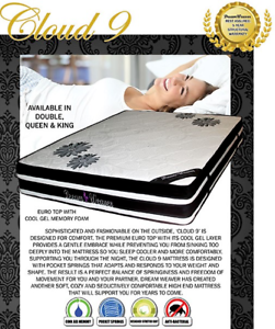Brand New QUEEN Size PLUSH Euro Pillow Top Mattress FREE DELIVERY