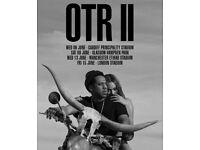 02 tickets Jay Z and Beyoncé OTR II 6 June, Cardiff GA standing West