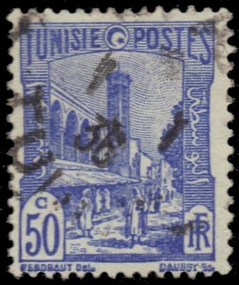 "TUNISIA 88 (Mi192) - Tunis Mosque ""1934 Ultramarine"" (pa38144)"