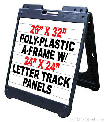 Poly A-frame 26x 32 Sidewalk Sign Wletter Track Inserts Letters