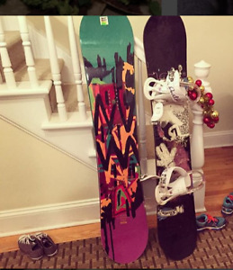 Women's RIDE OMG Snowboard with Burton Bindings and Boots