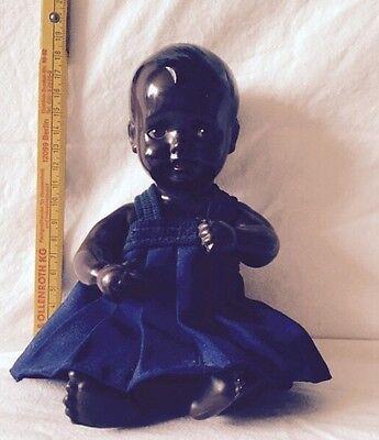Schwarze Schildkröt Puppe Sammler-Stück Selten Rar