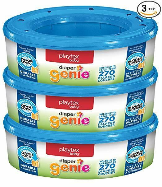 New Playtex Diaper Genie Refill Bags, 3 Pack, 810 Count