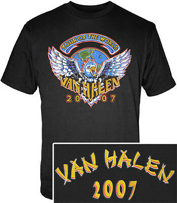 Van Halen 1984 Eagle Logo, 2007 Tour Shirt - New Official Size XXL 2XL Free ship