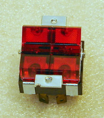 3 Identical Marineindustrial Double Lighted Rocker Switches