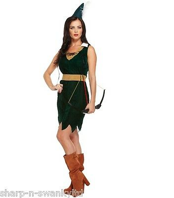 Ladies Sexy Robin Hood Maid Marion Marian Forest Lady Fancy Dress Costume Outfit](Maid Marian Outfit)