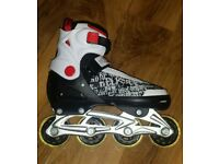 Nearly new inline skates (size 4 to 7)