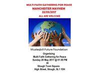 Multi Faith gathering for Peace (Manchester Mayhem)