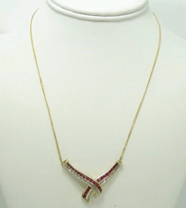 Diamonds and Rubies Gold Necklace