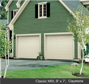 Two 9 x 7 Insulated Garage Doors with All Hardware