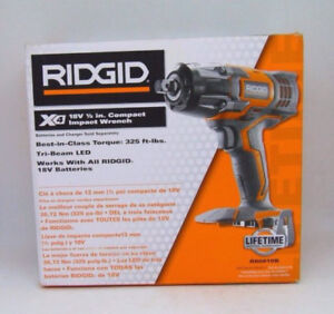 Ridgid Cordless 18V 1/2 Inch. Compact Impact Wrench// Tool Only