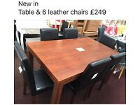 New table and 6 chairs BARGAIN £249