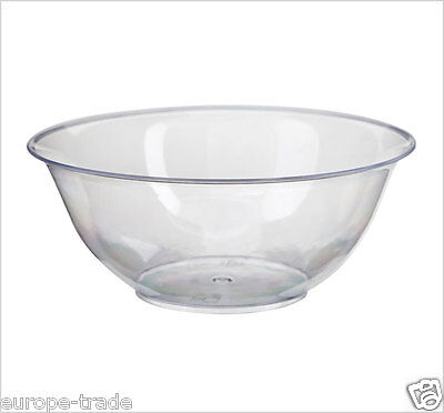 Plastic Dessert Bowls Pack of 10 BBQ, Picnic, Party Clear Disposable
