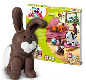 Fimo Kits For Kids Form & Play Polymer Modelling Oven Bake Clay - SET PET