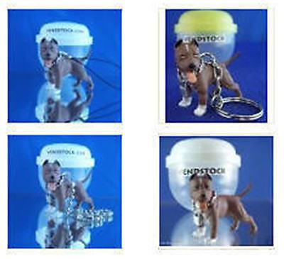 PIT BULL TERRIER BROWN #13 HOOD HOUNDS DOG FIGURE DANGLER KEYCHAIN LIGHT PULL ()