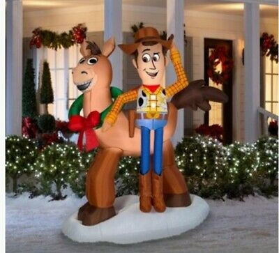 Gemmy 6 FT Inflatable DISNEY / PIXAR TOY STORY 4 Sheriff Woody and Bullseye NIB