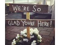 "Wedding Welcome Sign ""We're So Glad You're Here"""