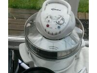 Halogen oven with extension ring