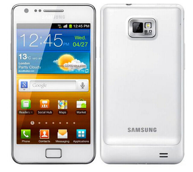 "NEW Unlocked Samsung Galaxy S II i9100 16GB 8MP 4.3"" GP[S Smartphone White"