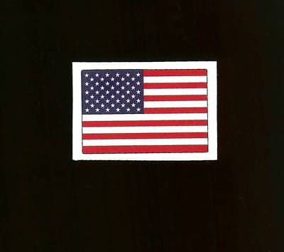 Official NFL American Flag USA Helmet Decal Sticker.Waterproof.White Boarder