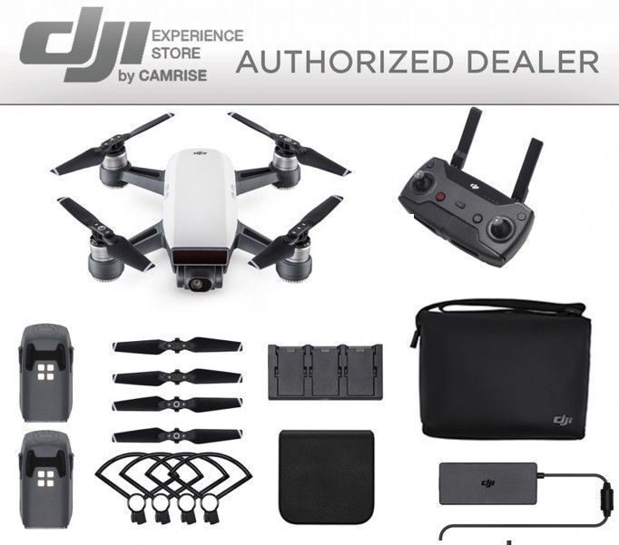 DJI Spark Fly More Combo enhanced bundle Drone White