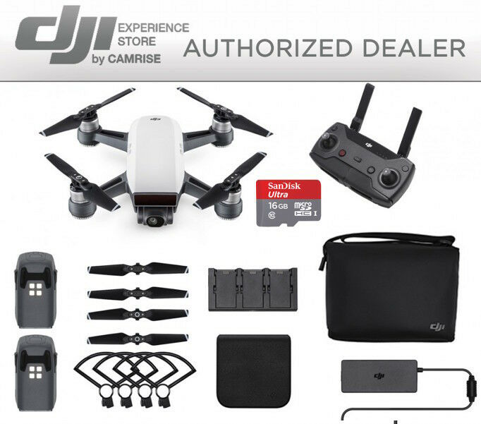 DJI Spark  Fly More Combo Drone Quadcopter in White FREE